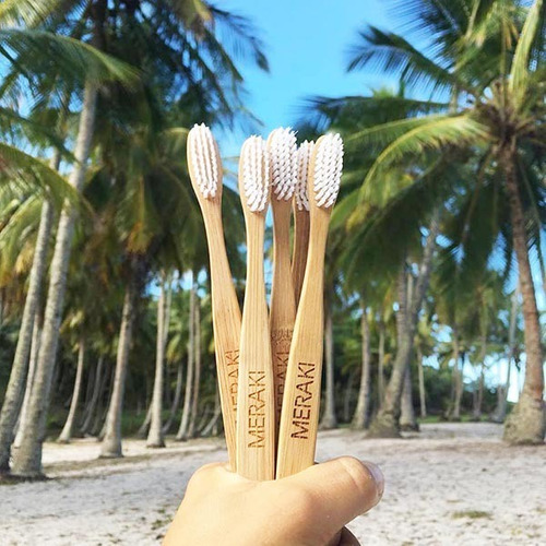 cepillo de dientes biodegradable bambu - eco friendly meraki