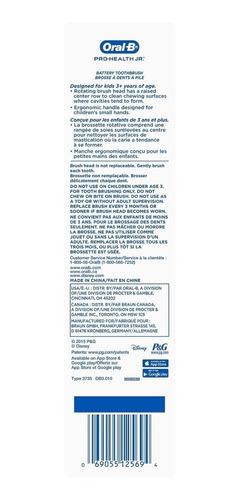 cepillo de dientes eléctrico  frozen disney original oral-b