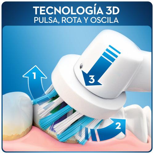 cepillo de dientes eléctrico oral-b 500 prof.+ 2 repuestos