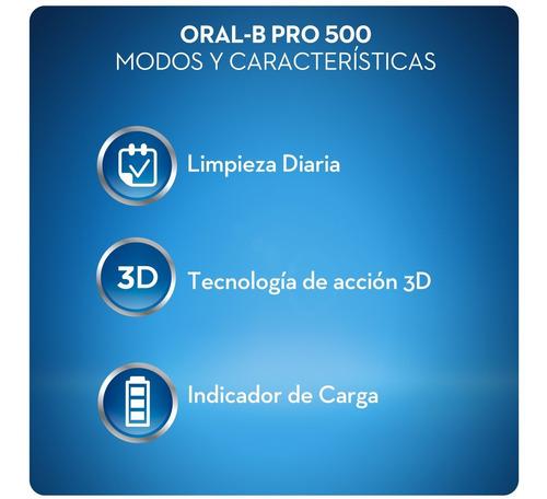 cepillo de dientes eléctrico oral-b 500 prof.+ 4 repuestos