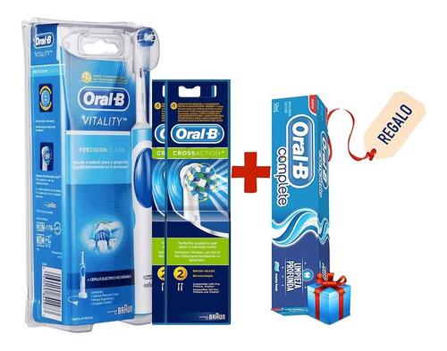 cepillo de dientes eléctrico vitality oral-b + 4 repuestos