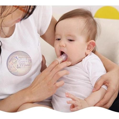 cepillo de dientes tipo dedal para bebes