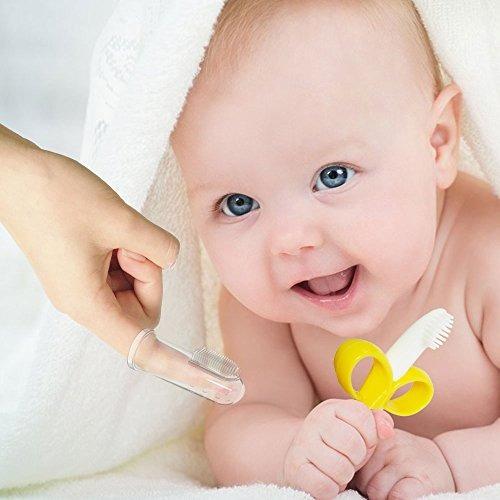 cepillo de dientes y mordedor para bebés,