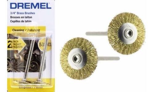 cepillo de latón dremel 535 minitorno dremel por 2 unidades