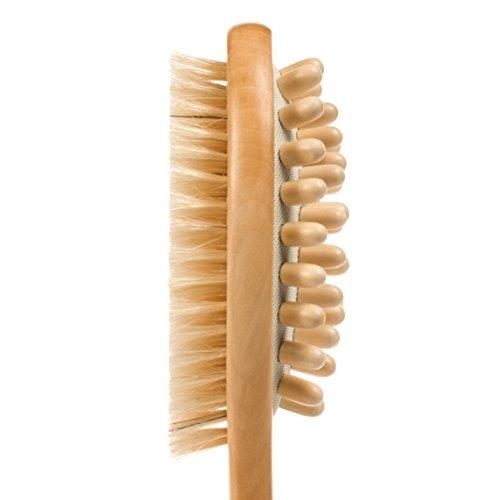 cepillo de madera para piel y cuerpo con cerdas naturales