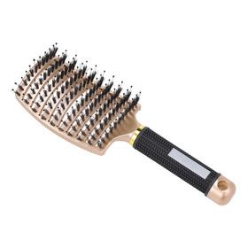 Cepillo De Pelo De Jabalí Curvado Ventilado Peinado Cepillo