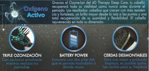 cepillo de pelo gama 4d therapy deep care ozone-ion no frizz