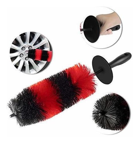 cepillo de rueda grande - 18 pelo largo de 4 diametros suave