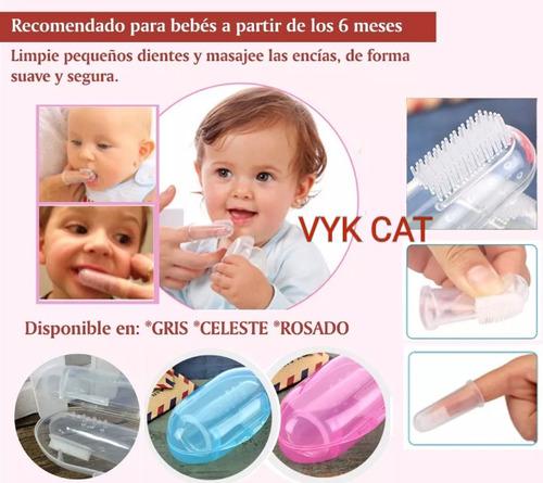 cepillo dental dedal silicona bebe , masajeador encias, goma
