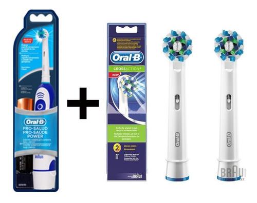 cepillo dental electrico oral b a pila + 2 repuestos
