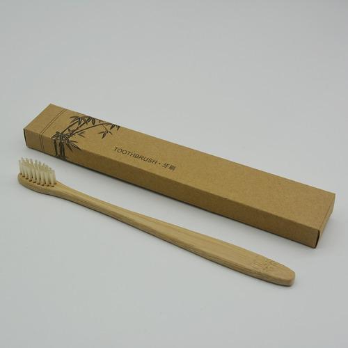 cepillo dientes bambú biodegradable suave ecológico 1pz