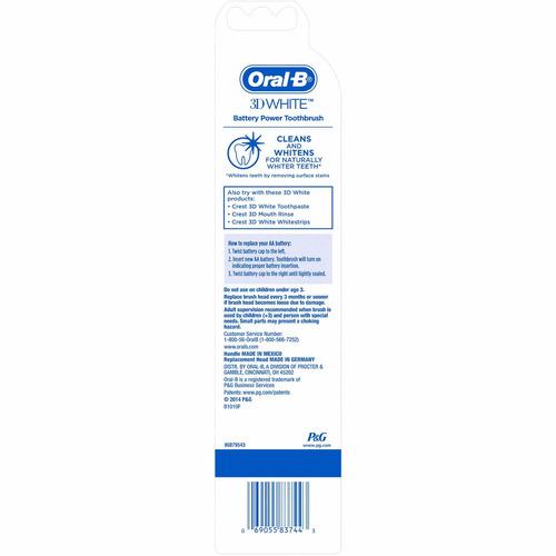 cepillo dientes electrico orab b 3d incluye bateria duracell