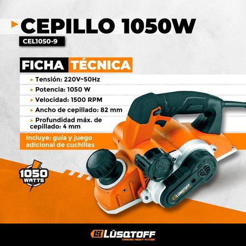 cepillo electrico 1050w lusqtoff 82 x4mm garlopa cepilladora