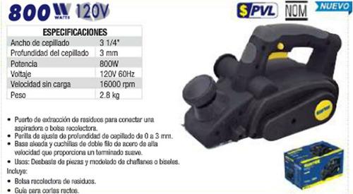 Cepillo electrico 800 w surtek carpintero oferta ce403b - Cepillo electrico carpintero ...