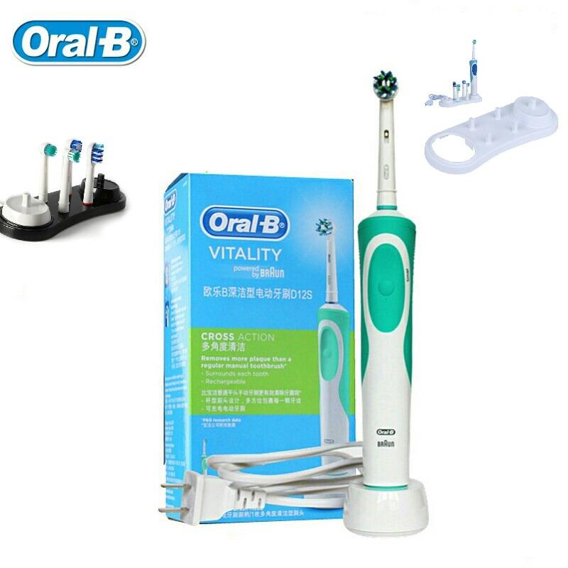cepillo eléctrico braun oral b 220v. + 9 repuestos + soporte. Cargando zoom. 5a4d8c92bd41