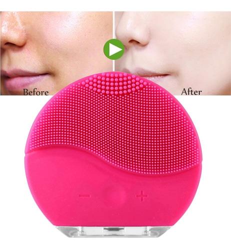 cepillo facial de silicon