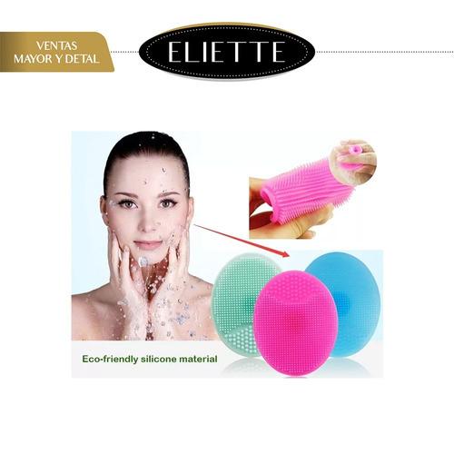 cepillo facial de silicon exfoliante