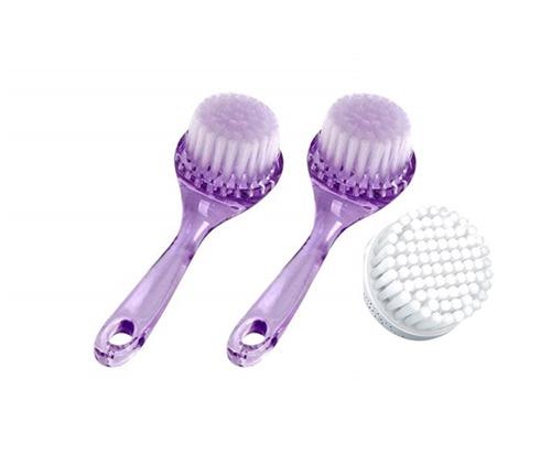 cepillo facial para limpieza y exfoliación