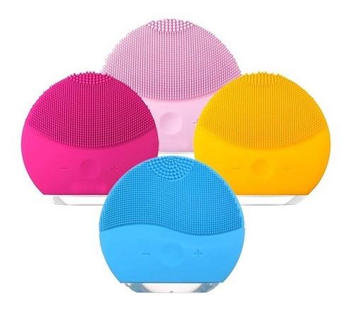 cepillo facial poros 3x1 silicona recargable usb ducha