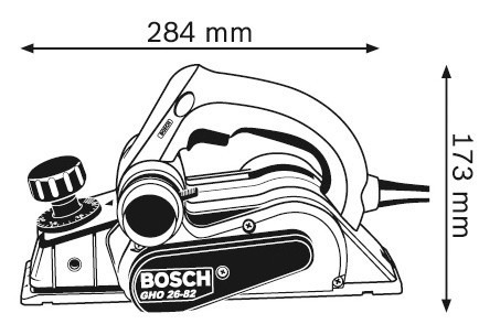 cepillo-garlopa 710w bosch gho26-82 - herracor