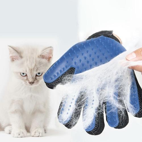 cepillo + guante saca pelos pelusas de mascotas perros gatos