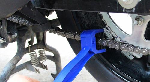 cepillo limpiador cadena moto bicicleta