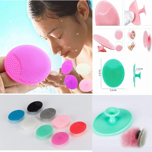 cepillo limpiador facial exfoliante silicón masaje impurezas
