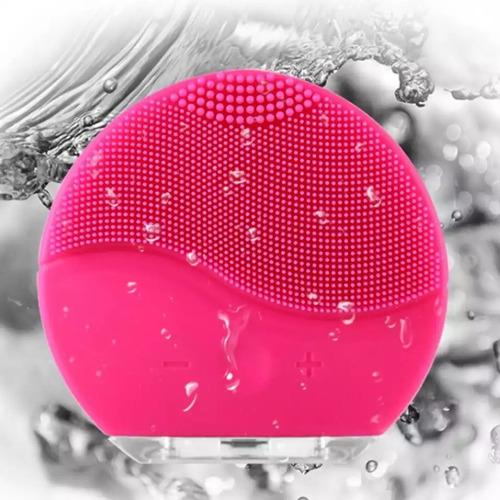 cepillo limpiador masajeador facial ultrasonico recargable