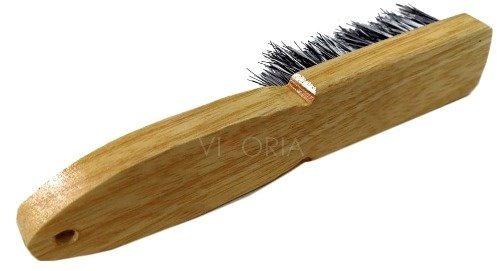 cepillo madera para barba barbershop cerda natural