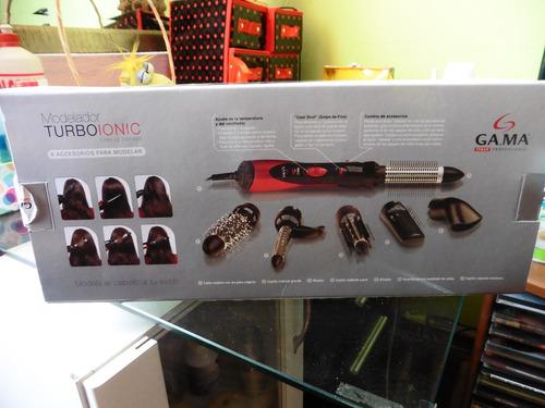 cepillo modelador ga ma turboionic nuevo (6 accesorios)