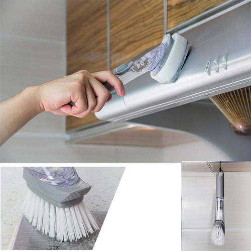cepillo multiusos arranca grasa dispensador de jabón rf 8049
