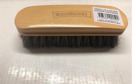 cepillo para calzado wassington de cerda natural 16 cm