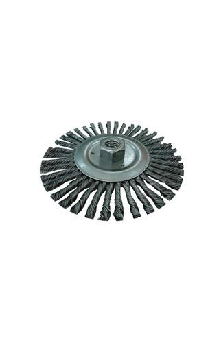 cepillo para grata conico trenzado de acero 3`*14mm` 8500rpm