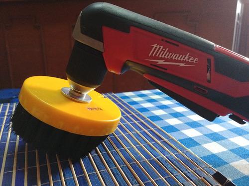 cepillo para taladro limpieza de tapicerias colchones salas