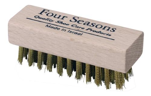 cepillo para zapatos de gamuza de laton mini four seasons