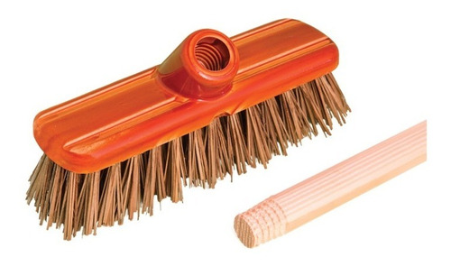 cepillo  parrillero para parrila con cabo madera limpieza