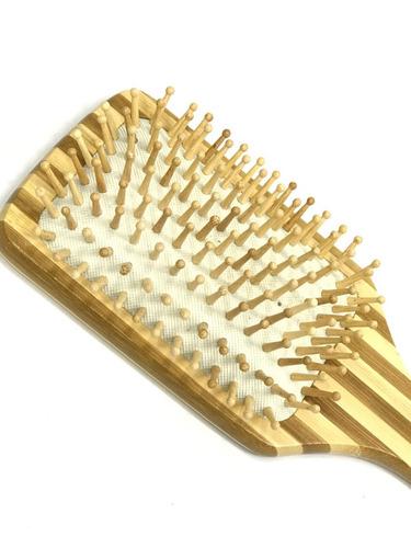 cepillo plano para desenredardesenrredar en madera de bambú