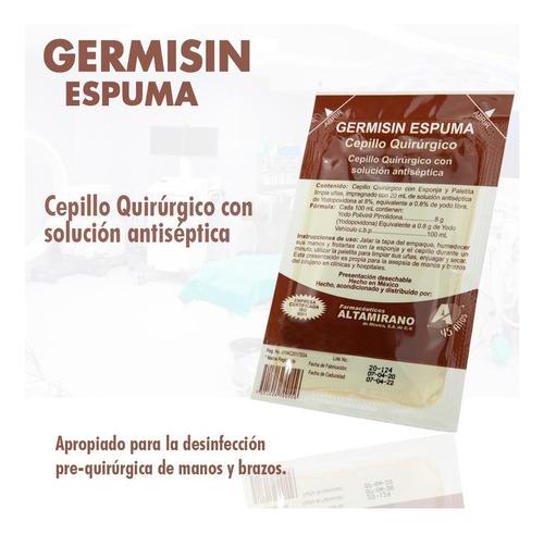 cepillo quirúrgico estéril con solución antiséptica espuma