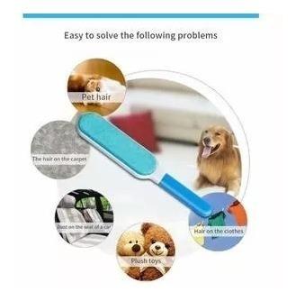 cepillo quita pelusa removedor pelo mascotas autolimpiable