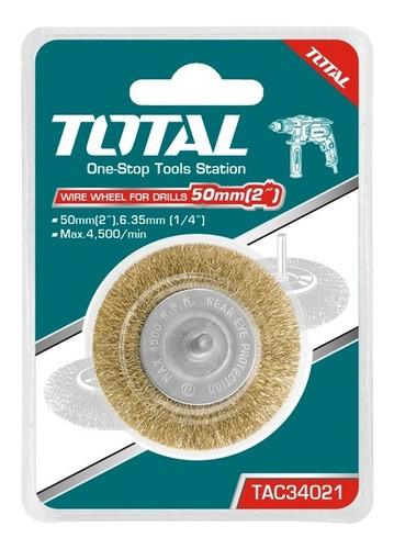 cepillo radial 2  con cerdas de acero marca total