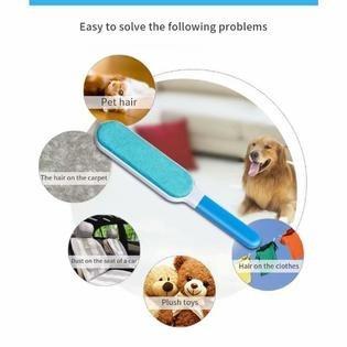 cepillo removedor pelusa quita pelo autolimpiable mascotas