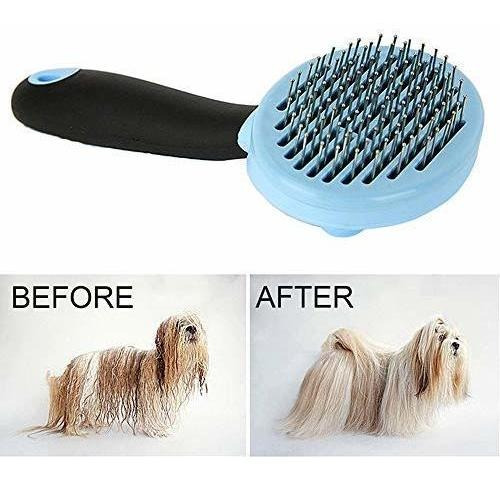 Dog Cat Slicker Brush Cepillo autolimpiante para limpieza de mascotas