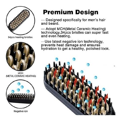 cepillo termico para barba, 200°