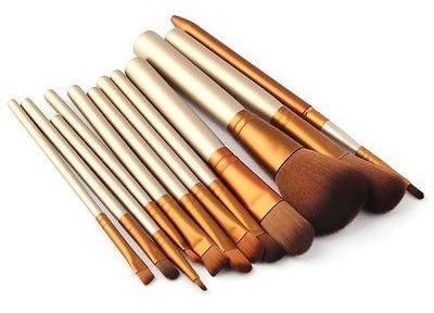 cepillos de maquillaje pro 12pcs set polvo base delineador d