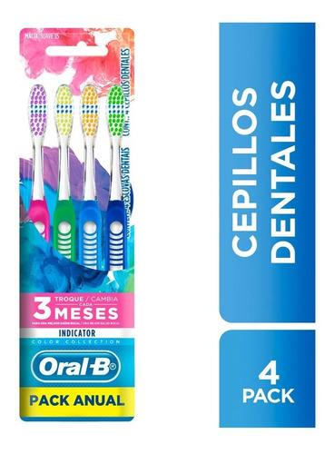 cepillos dentales oral b indicator pack anual x 4 unidades