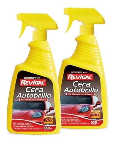 cera auto brillo exterior proteg pintura duradera revigal x2