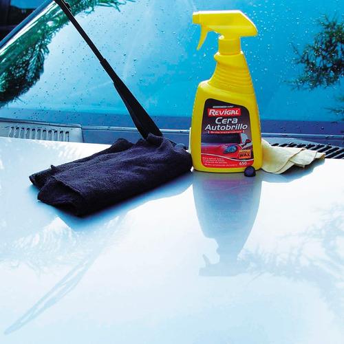 cera auto brillo exterior protege pintura duradera revigal