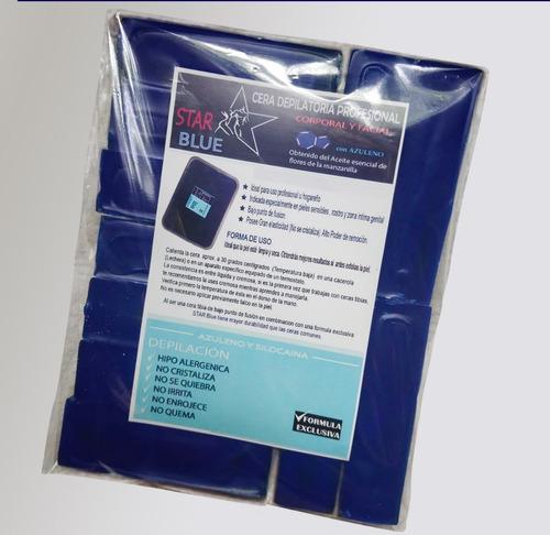 cera azul elástica star blue 1 kilo - depilación azuleno
