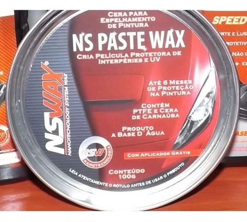 cera de carnaúba em pasta nswax ns paste wax