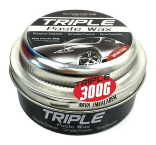cera de carnauba triple paste wax autoamerica 300g